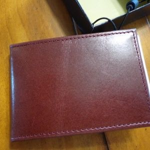 Wallet Money Clip Thinfold Leather NWT w/ Box